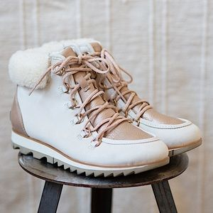 Sorel Harlow Lace Lux Boots in Natural